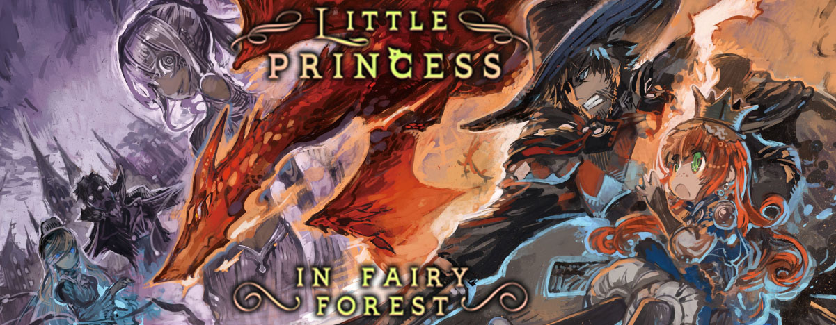 Little Princess In Fairy Forest Banner
